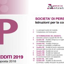 Modello Redditi SP 2019, scadenza e istruzioni